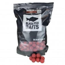 Бойлы растворимые Black Fish Baits SOLUBLE Boilies STRAWBERRY (клубника) 24мм 2кг