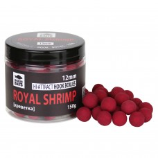 Бойлы тонущие Black Fish Baits Hi-Attract Hook Boilies Royal Shrimp (креветка) 12мм