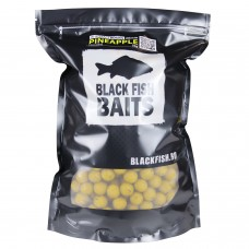 Бойлы тонущие Black Fish Baits Hi-Attract Mini Boilies Pineapple (ананас) 12мм 2кг