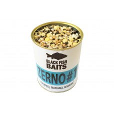 Зерновая смесь Black Fish Baits ZERNO #1 (кукуруза, пшеница, конопля) 900мл