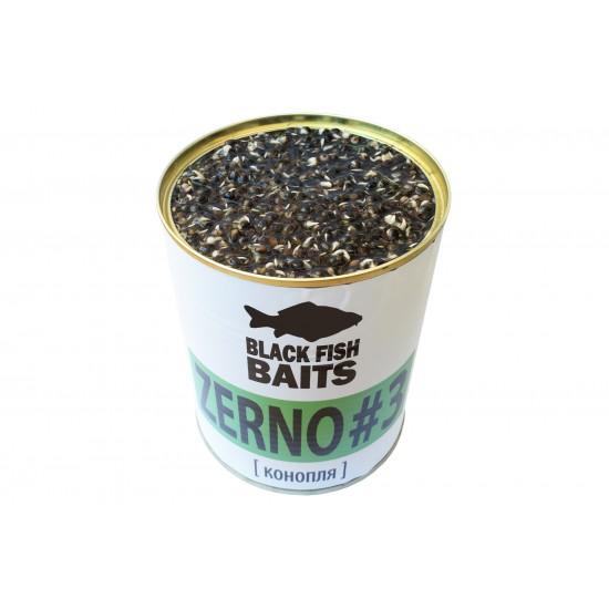 Зерновая смесь Black Fish Baits HEMPSEED ZERNO #3 (конопля) 900мл
