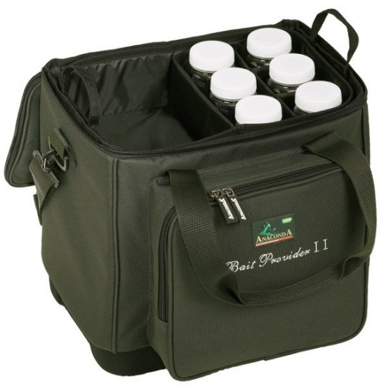 Термо-сумка для прикормки с 6 банками ANACONDA Bait Provider II
