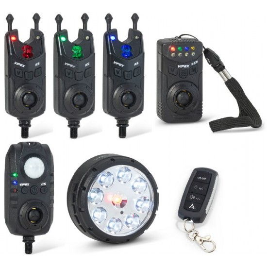 Комплект сигнализаторов с пейджером, датчиком и лампой ANACONDA VIPEX RS Pro Set