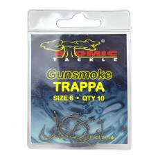 Крючки карповые Atomic Tackle TRAPPA Gunsmoke