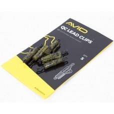 Безопасная клипса сo скобой и застежкой AVID CARP OUTLINE QC Lead Clip CAMOU