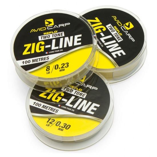 Леска нейтральной плавучести AVID CARP Zig Line Two Tone