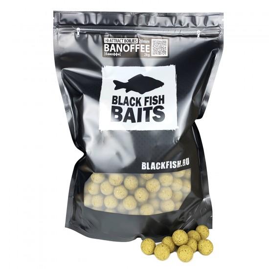 Бойлы тонущие Black Fish Baits HI-ATTRACT Boilies BANOFFEE (баноффи) 14/20мм 2кг