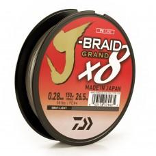 Леска плетеная Daiwa J-Braid GRAND X8 Gray-Light (светло-серая) 135m