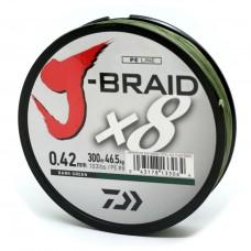 Леска плетеная Daiwa J-Braid X8 Dark Green (темно-зеленая) 300m