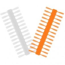 Стопоры для насадок Delphin Q-STOP 7mm Transparent+Orange 2шт.