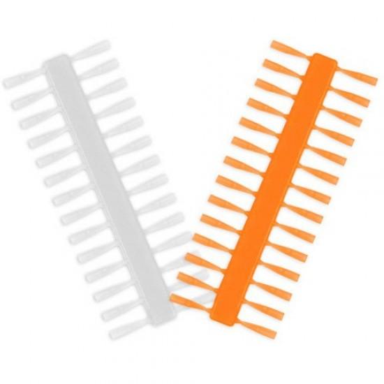 Стопоры для насадок Delphin Q-STOP 7mm Transparent+Orange