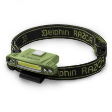 Фонарь налобный Delphin RAZOR USB 85lm
