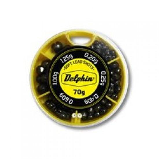 Грузила-дробинки Delphin Soft Lead Shots 70g