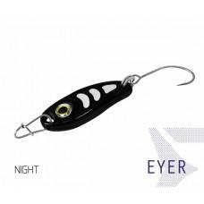 Блесна колеблющаяся Delphin EYER Spoon NIGHT