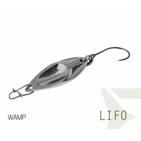 Блесна колеблющаяся Delphin LIFO Spoon 2.5g WAMP