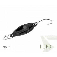 Блесна колеблющаяся Delphin LIFO Spoon 2.5g NIGHT