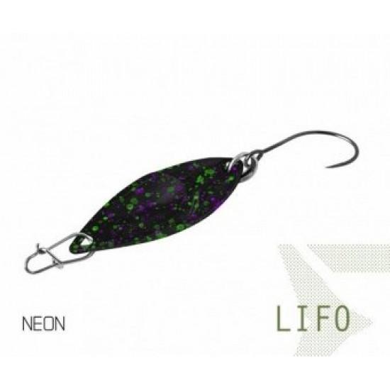 Блесна колеблющаяся Delphin LIFO Spoon 2.5g NEON