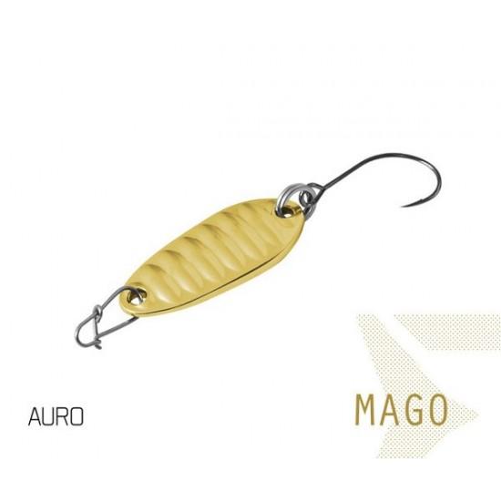 Блесна колеблющаяся Delphin MAGO Spoon 2.0g AURO