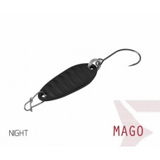 Блесна колеблющаяся Delphin MAGO Spoon 2.0g NIGHT