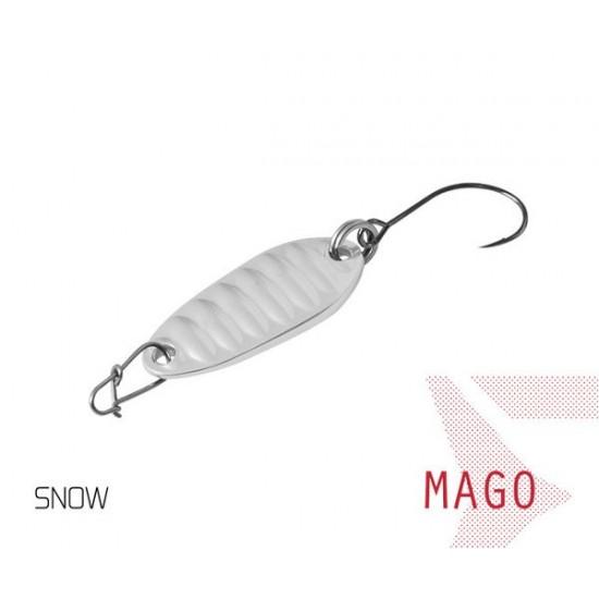 Блесна колеблющаяся Delphin MAGO Spoon 2.0g SNOW