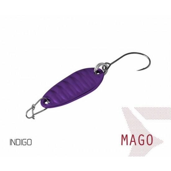 Блесна колеблющаяся Delphin MAGO Spoon 2.0g INDIGO