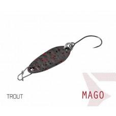 Блесна колеблющаяся Delphin MAGO Spoon 2.0g TROUT