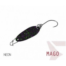 Блесна колеблющаяся Delphin MAGO Spoon 2.0g NEON