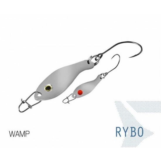 Блесна колеблющаяся Delphin RYBO Spoon 0.5g WAMP