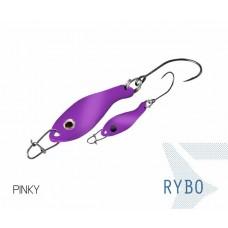 Блесна колеблющаяся Delphin RYBO Spoon 0.5g PINKY
