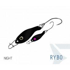 Блесна колеблющаяся Delphin RYBO Spoon 0.5g NIGHT
