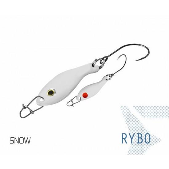 Блесна колеблющаяся Delphin RYBO Spoon 0.5g SNOW