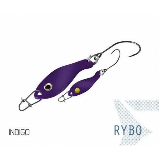 Блесна колеблющаяся Delphin RYBO Spoon 0.5g INDIGO