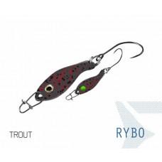 Блесна колеблющаяся Delphin RYBO Spoon 0.5g TROUT