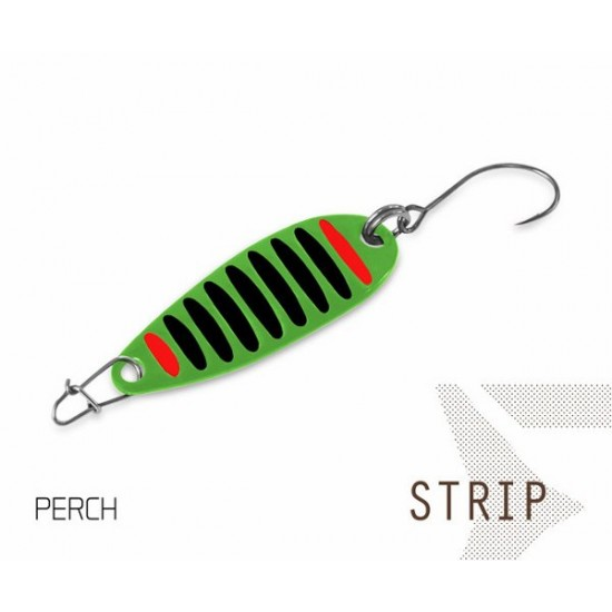 Блесна колеблющаяся Delphin STRIP Spoon 2.0g PERCH