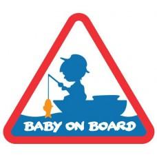 Наклейка Delphin BABY on BOARD Sticker 100x87mm