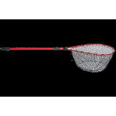 Подсачек силиконовый ECOPRO 60x42, рукоятка 2.1м, красный (А-009)