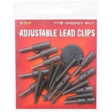 Клипсы для грузил с конусом и стопором ESP Adjustable Lead Clips