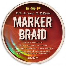 Леска плетеная для маркера ESP MARKER Braid 0,22mm 20lb Dark Green 300m