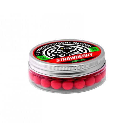 Бойлы плавающие FFEM Pop-Up Strawberry 10mm