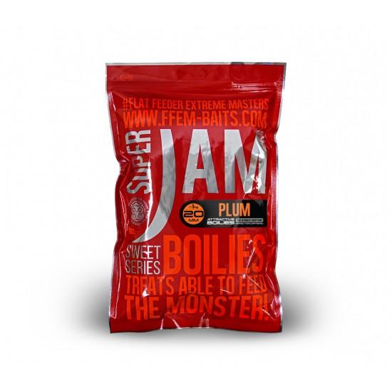 Бойлы тонущие FFEM Super Jam Boilies Plum 20mm 1kg
