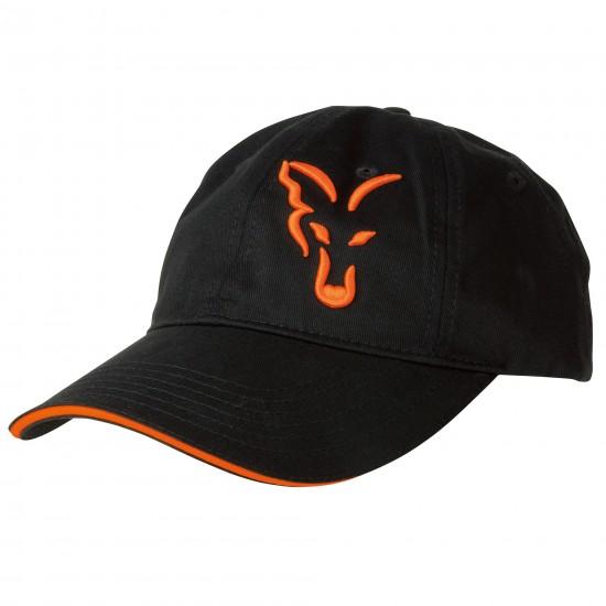 Бейсболка FOX Black & Orange Baseball Cap