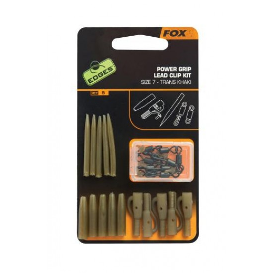 Набор безопасных клипс с усиленным конусом FOX Edges Power Grip Lead Clip Kit