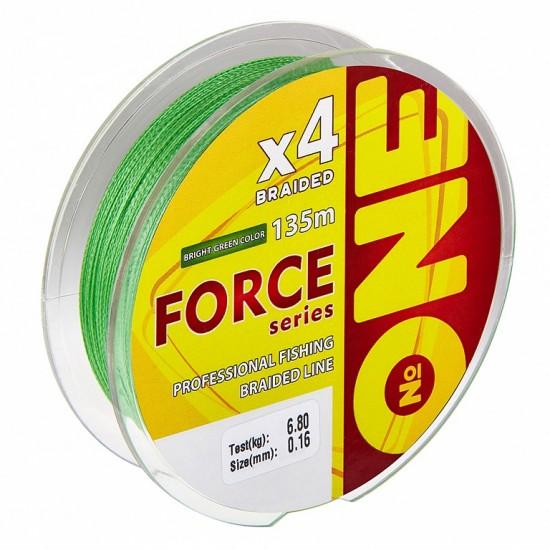 Плетеная леска IAM Number ONE Force 4X Bright-Green 135m