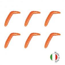 Силиконовые приманки на форель IRON TROUT BACO 4cm Sweet 6шт. Orange Glitter