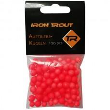 Шарики плавающие IRON TROUT Buoyancy Ball 6-10mm Red 100шт.