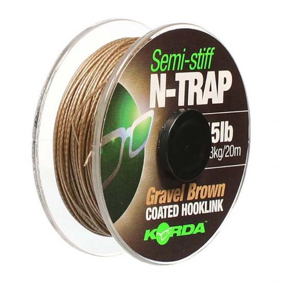 Поводковый материал в оплетке полужесткий Korda N-Trap Semi-Stiff
