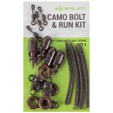 Набор для фидерной оснастки KORUM Camo Bolt & Run Kit 4шт.