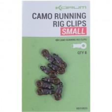 Кольцо с застежкой KORUM Camo Running Rig Clips 8шт.