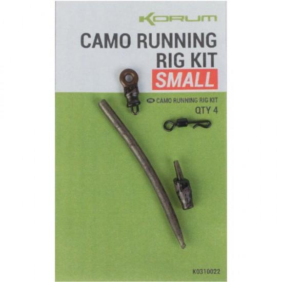 Набор для скользящей оснастки KORUM Camo Running Rig Kit 4шт.