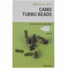 Бусина + застежка KORUM Camo Turbo Beads 5+5шт.